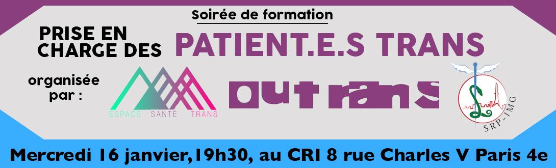 Soirée de formation prise en charge des patient.e.s trans